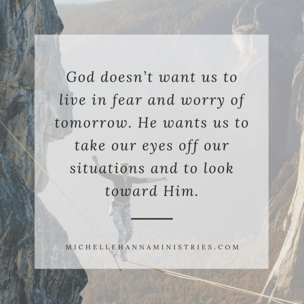 Trusting God Keeping Eyes on Jesus Michelle Hanna Ministries Look up Devotional