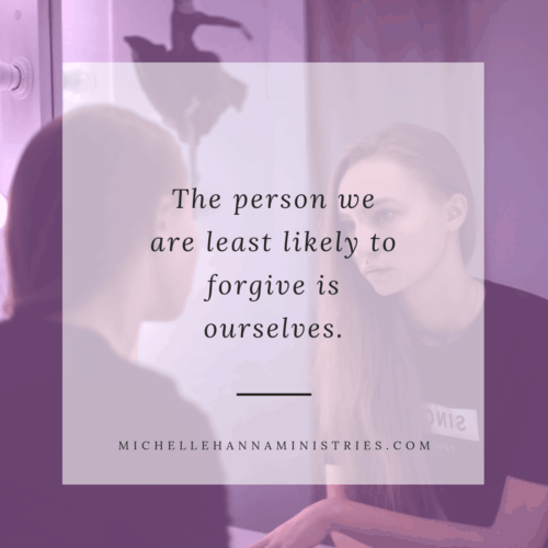 Lay it Down The person we are least likely to forgive is ourselves.